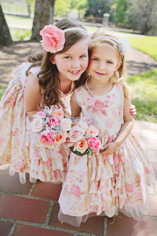 {Adorable Floral Flower Girl Dresses from the blog  Elizabeth Anne Designs }