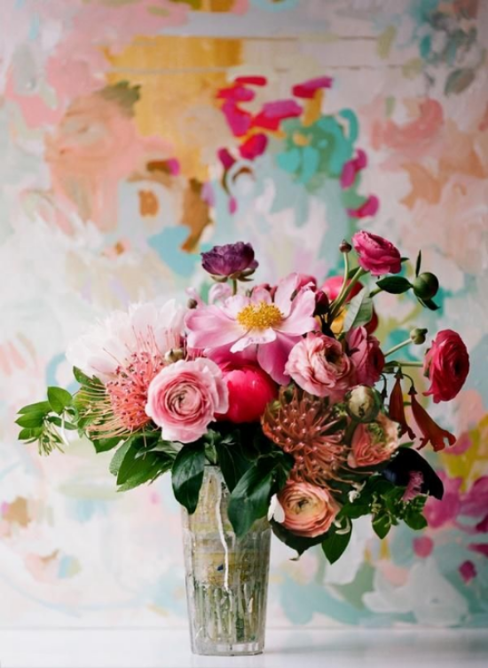 {Beautiful Bright Pallet and a great source of inspiration for wedding floral}
