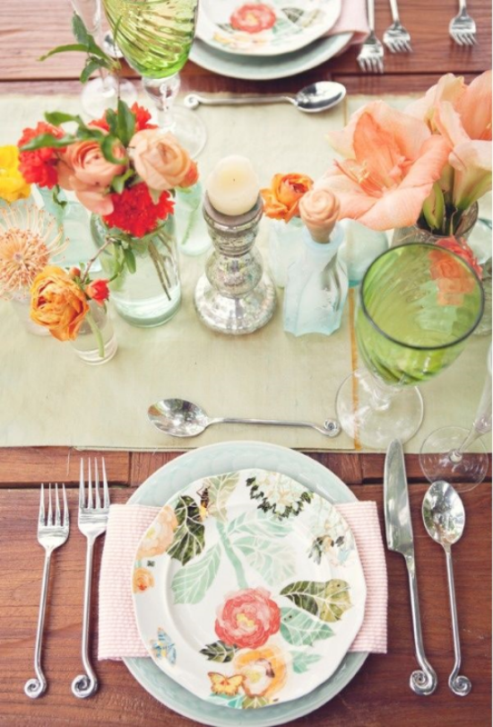 {Patterned Plate from Pinterest - Lovely detail for any table}