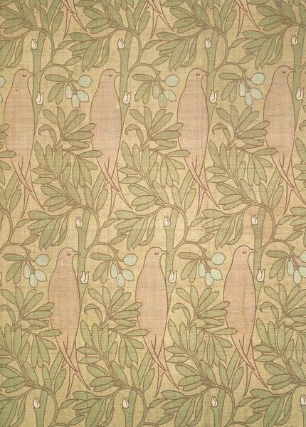 Charles Voysey wallpaper circa 1899