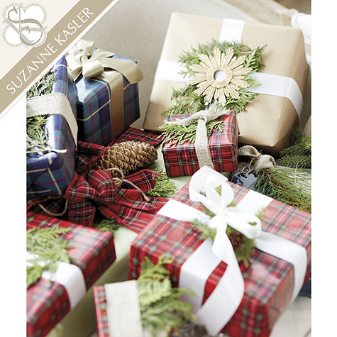 I adore this  plaid wrapping paper  by Suzanne Kasler for Ballard Designs. Perfect for this time of year!