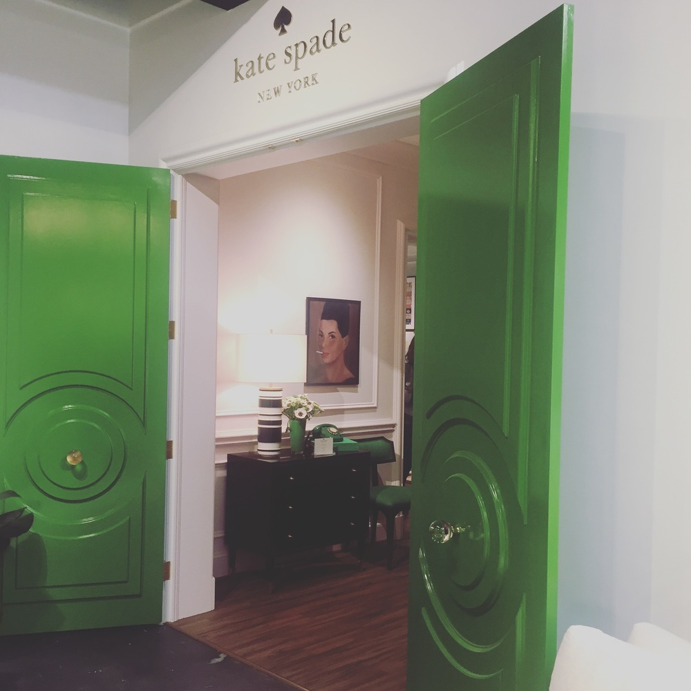 Entrance to the Kate Spade Home showroom at ej victor