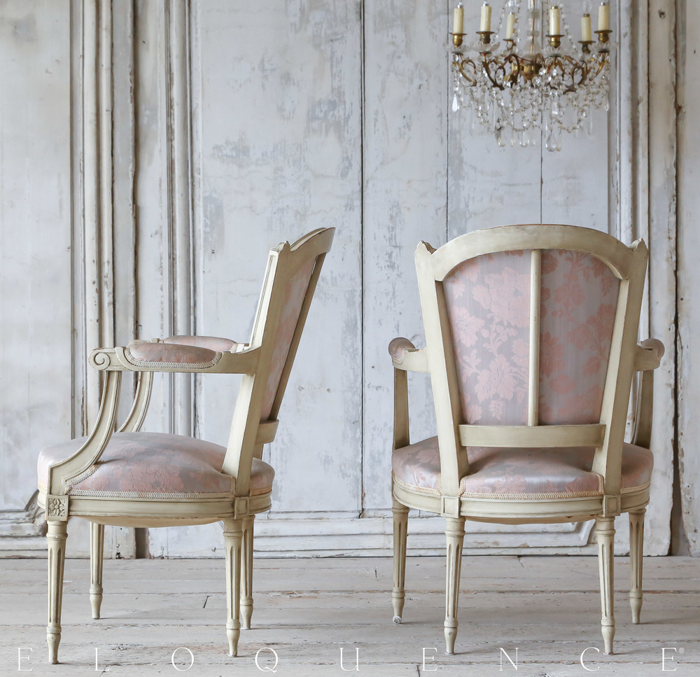 Eloquence Antique    Louis XVI Armchairs  Circa 1900