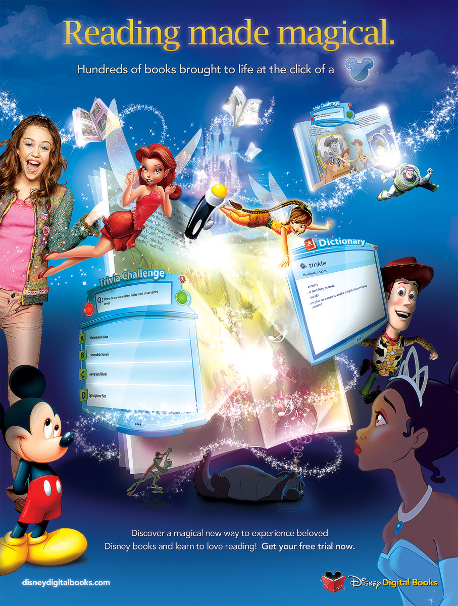 Disney Digital Books Magazine Ad