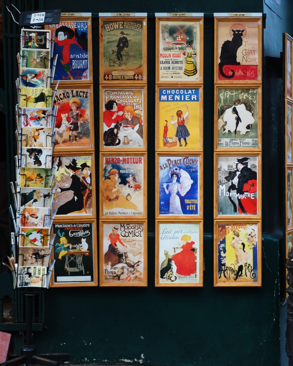 Postcards and posters in Montmartre