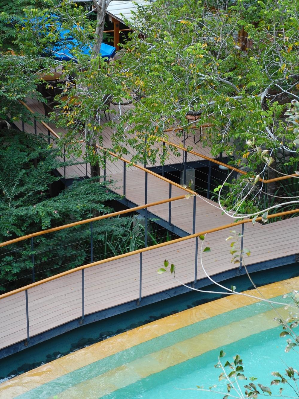 Pool deck at Rio Perdido