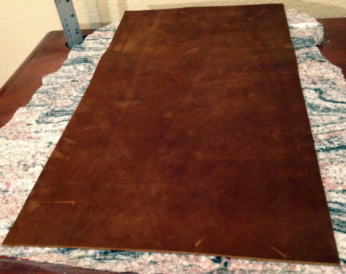 6 :This is the leather after the cutting and before any tooling is done.