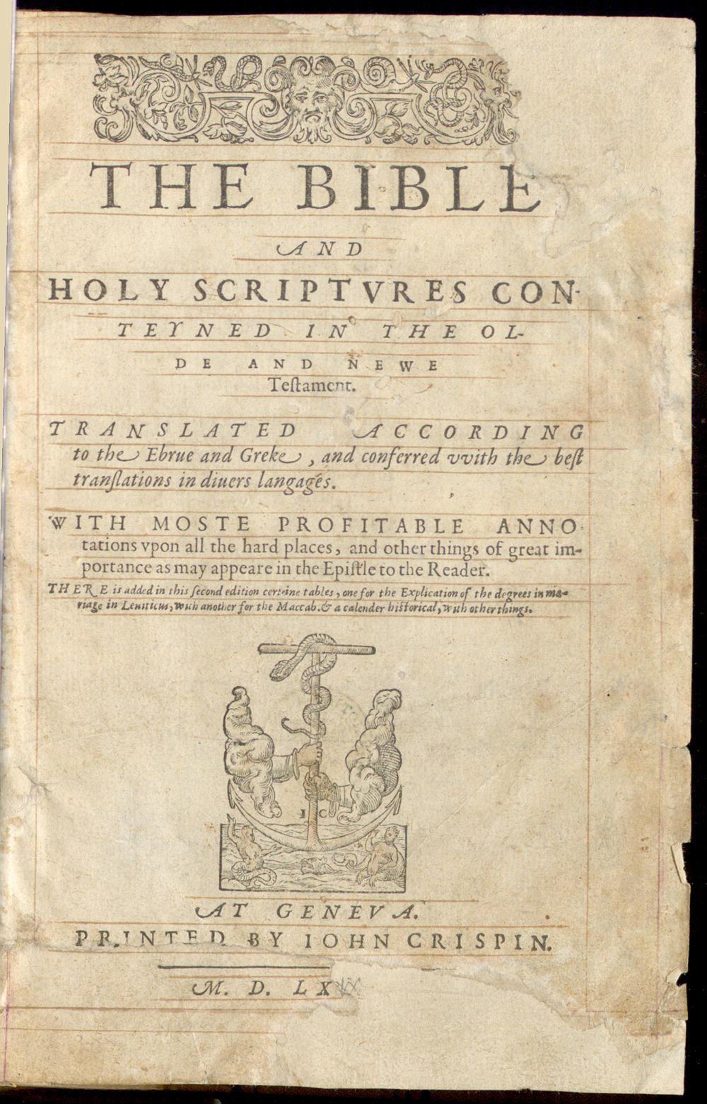 Geneva Bible 1569