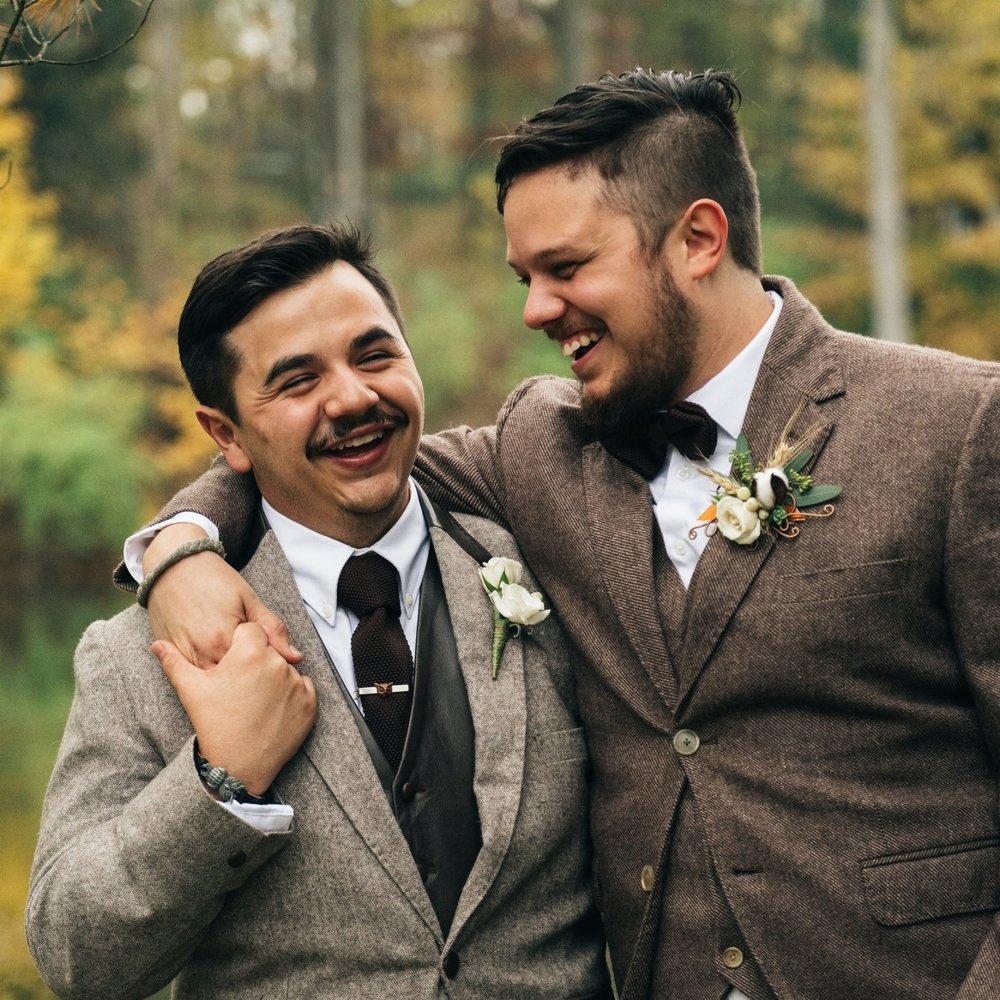 My husband Jordan and I together lookin' sharp!