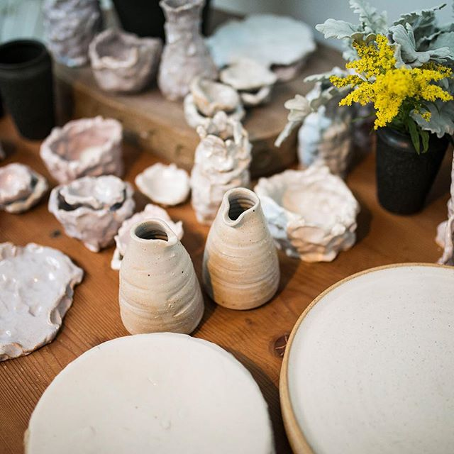 The dinners are all sold out but our exhibition is open for #melbdesignweek @ngvmelbourne come down and see beautiful ceramic design wed-sat 11-3pm Until April 4 at @schoolhouse_studios