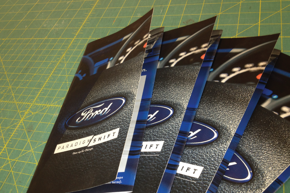 Supporting print collateral.