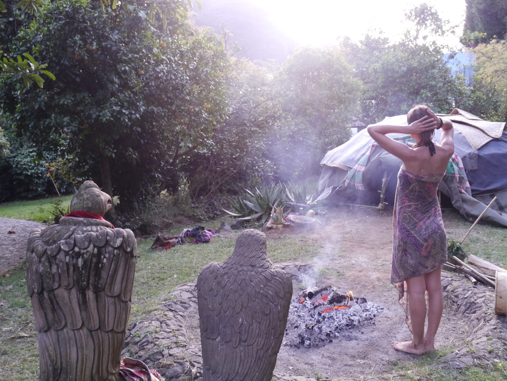Natural High after Mexican Sweat Lodge - Temazcal