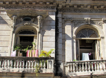 A facade in Old Havana