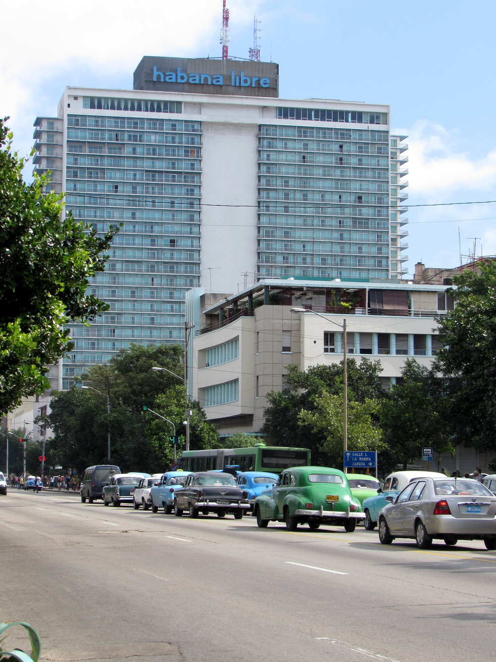 One of the tallest buildings in Havana