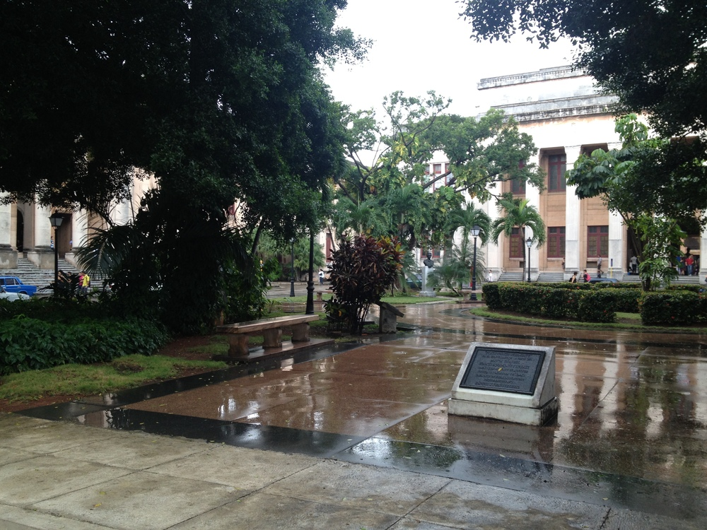 Courtyard at the University of Havana