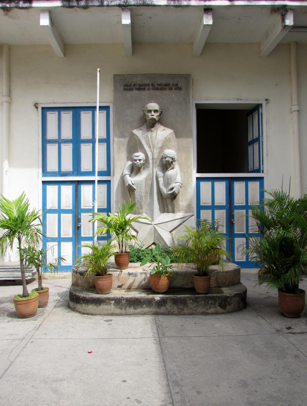 Statue inside the Escuela Elemental de Musica y Danza