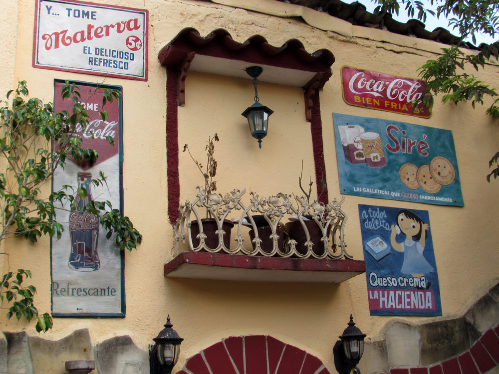 Old signs in a local paladar