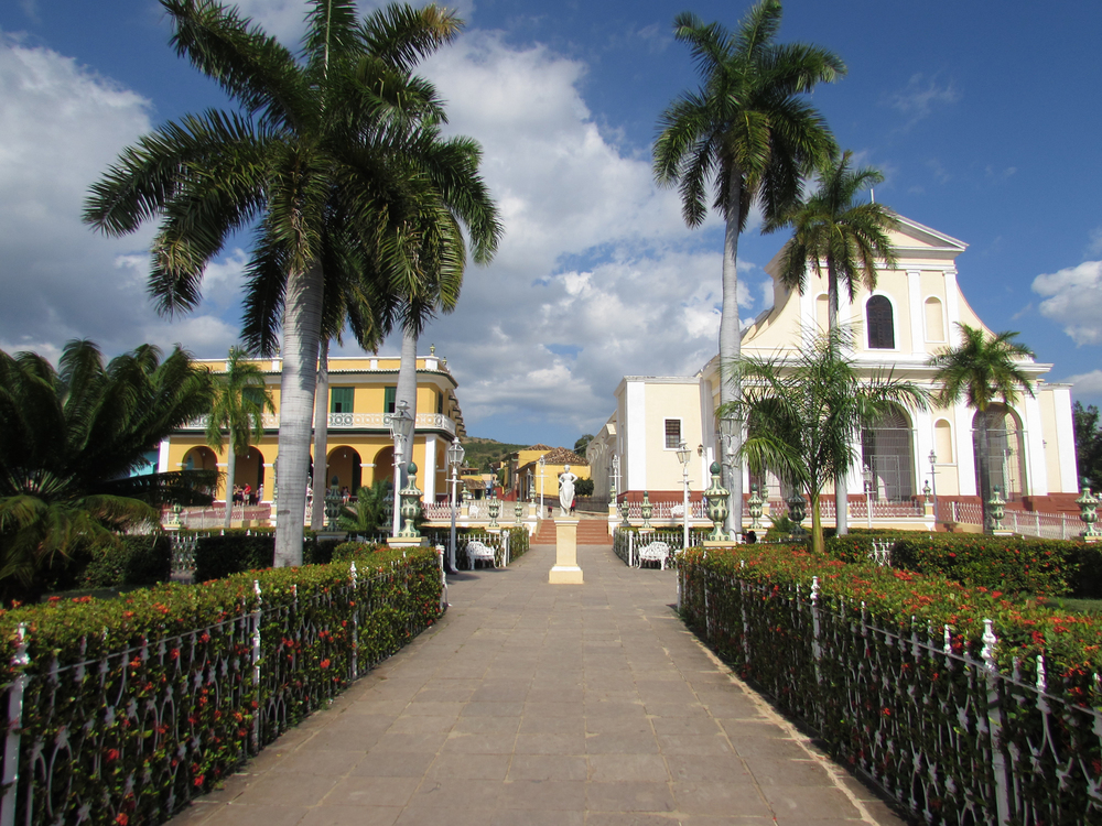Center of the main square in Trinidad