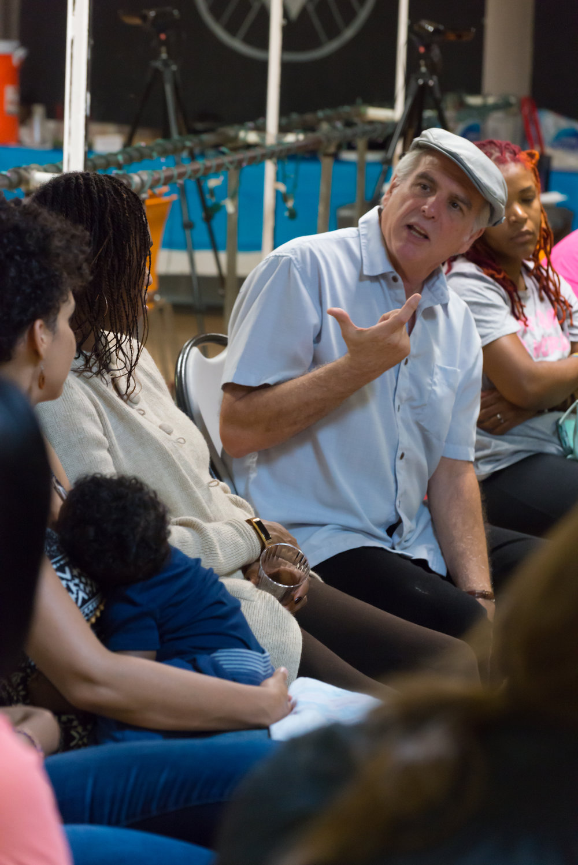 Dudley Cocke facilitating a Yoruba Project story circle, October 2017. Photo: Kat Kendon.