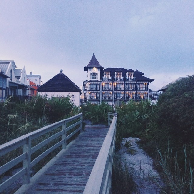 Sunset at Rosemary Beach and the Pearl Hotel