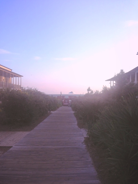 The view from our porch to the end of the boardwalk