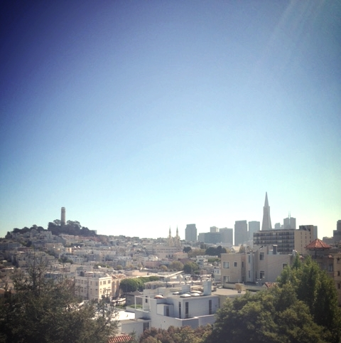 View of Coit Tower and San Francisco