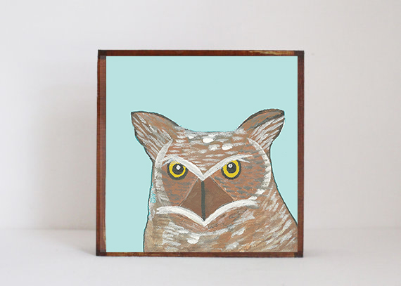 Horned Owl Face