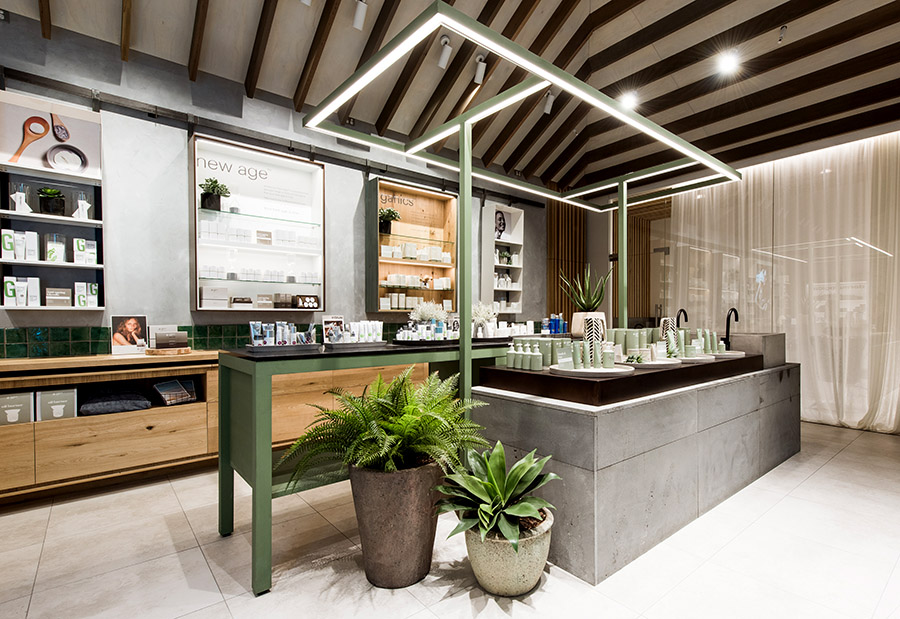 Endota Spa Chermside. Welcoming interior using a warm honest materials palette.