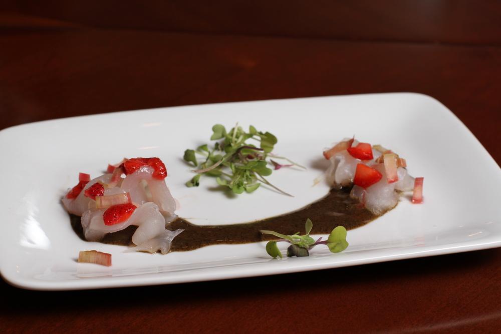 black bass sashimi