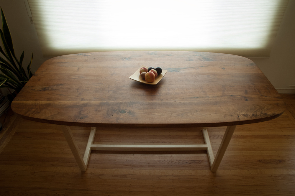 midcentury modern dining table top view