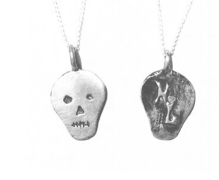Logo Pendants:Sterling Silver with Rustic Black Finish