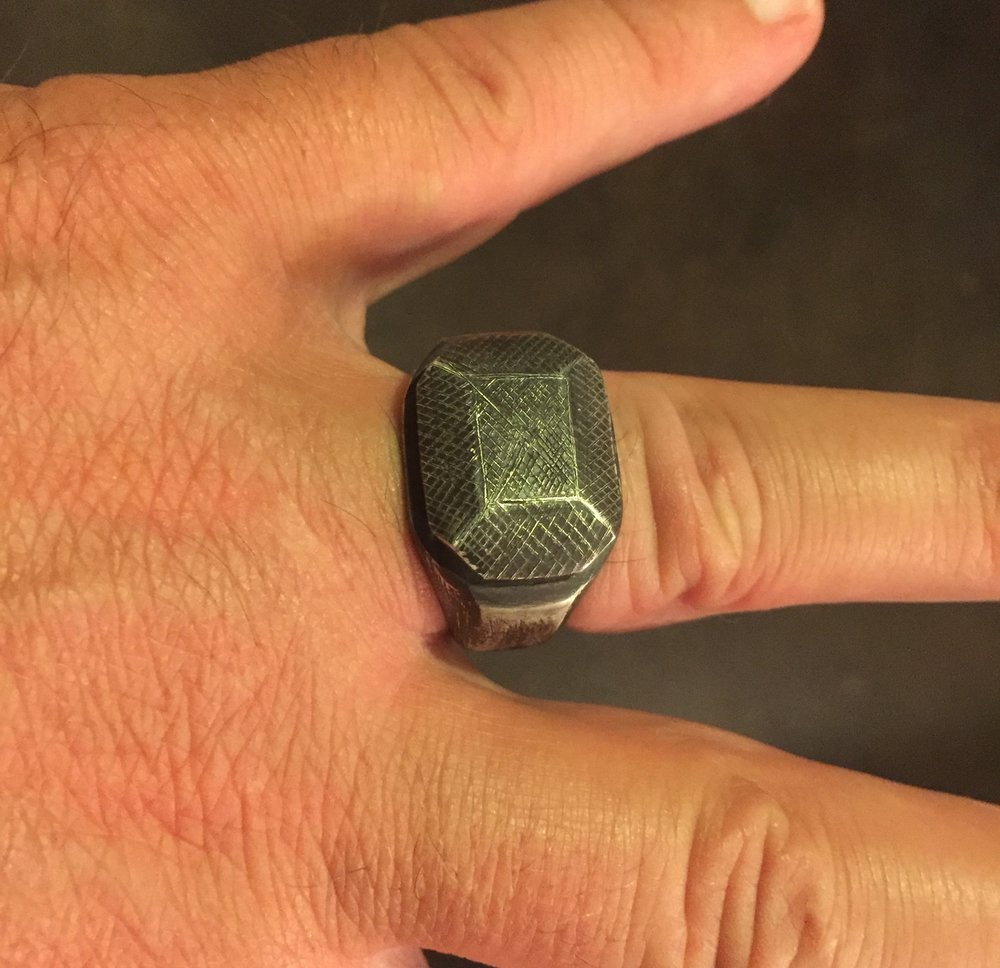 Sterling Silver with Rustic Black Finish