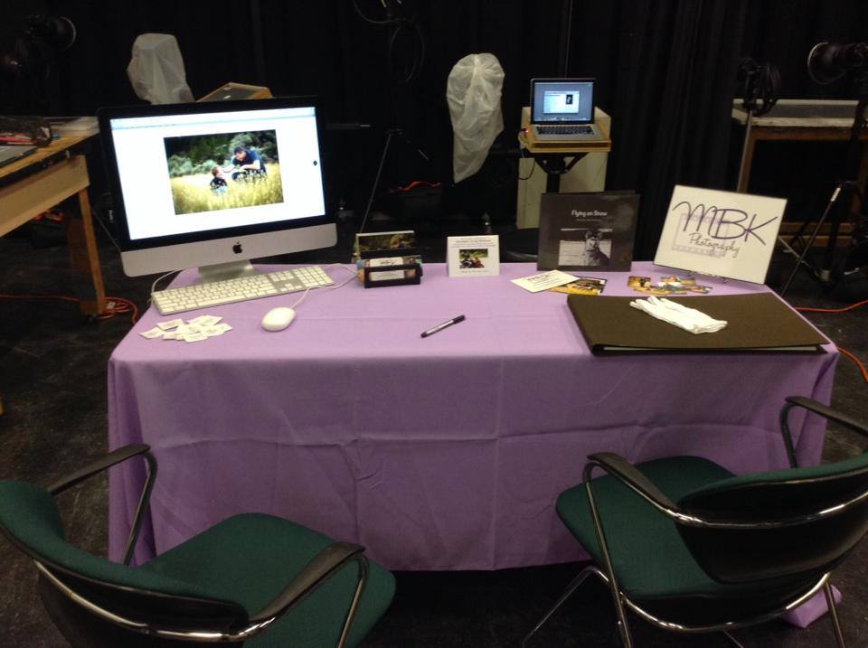 My table at 2013 fall portfolio review.