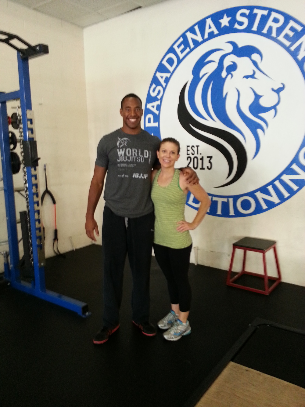 Amanda V. and I prior her workout to help kick off her 4th of July weekend