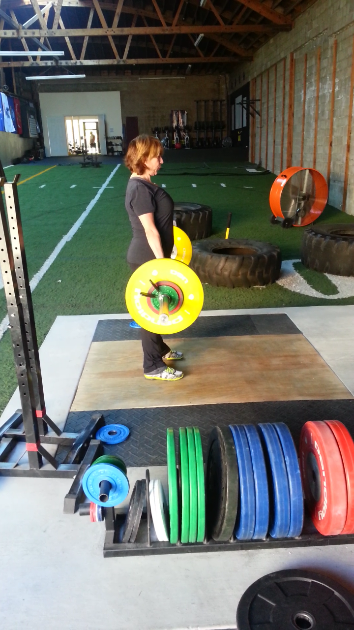 Valerie with a personal best Deadlift @ 115 lbs, May 2014