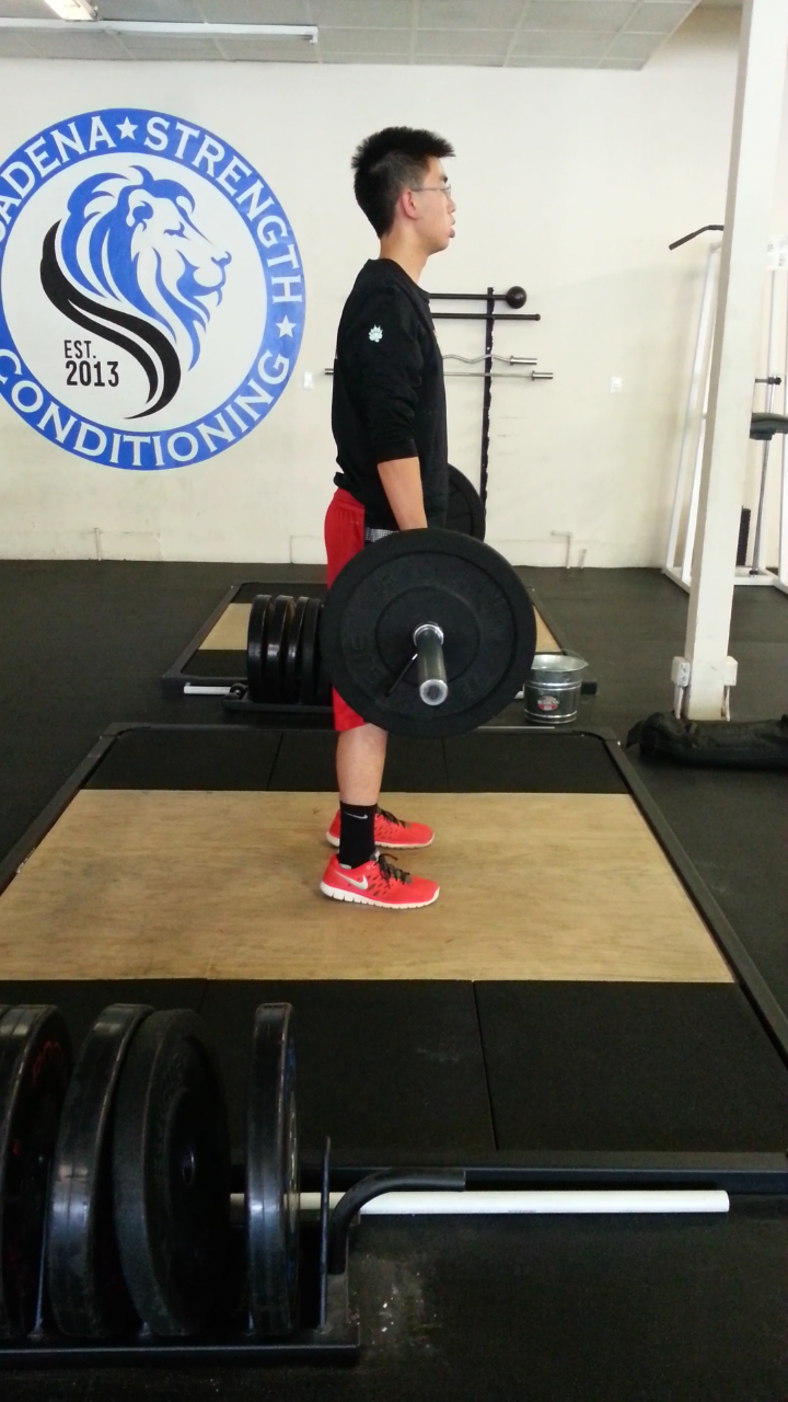 Raymond's first day deadlifting, he's a fast learner [high school basketball player], June 2014
