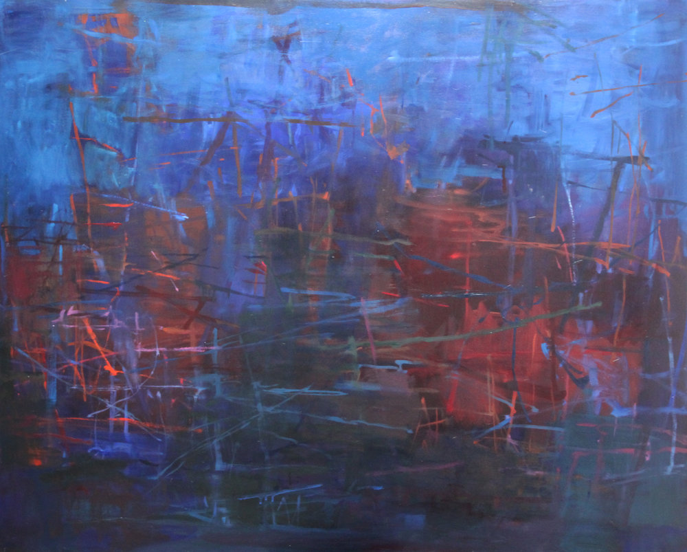 Sandra Russell, In the Dark Places, 2015, Oil on Canvas, 48x60, $6500.jpg