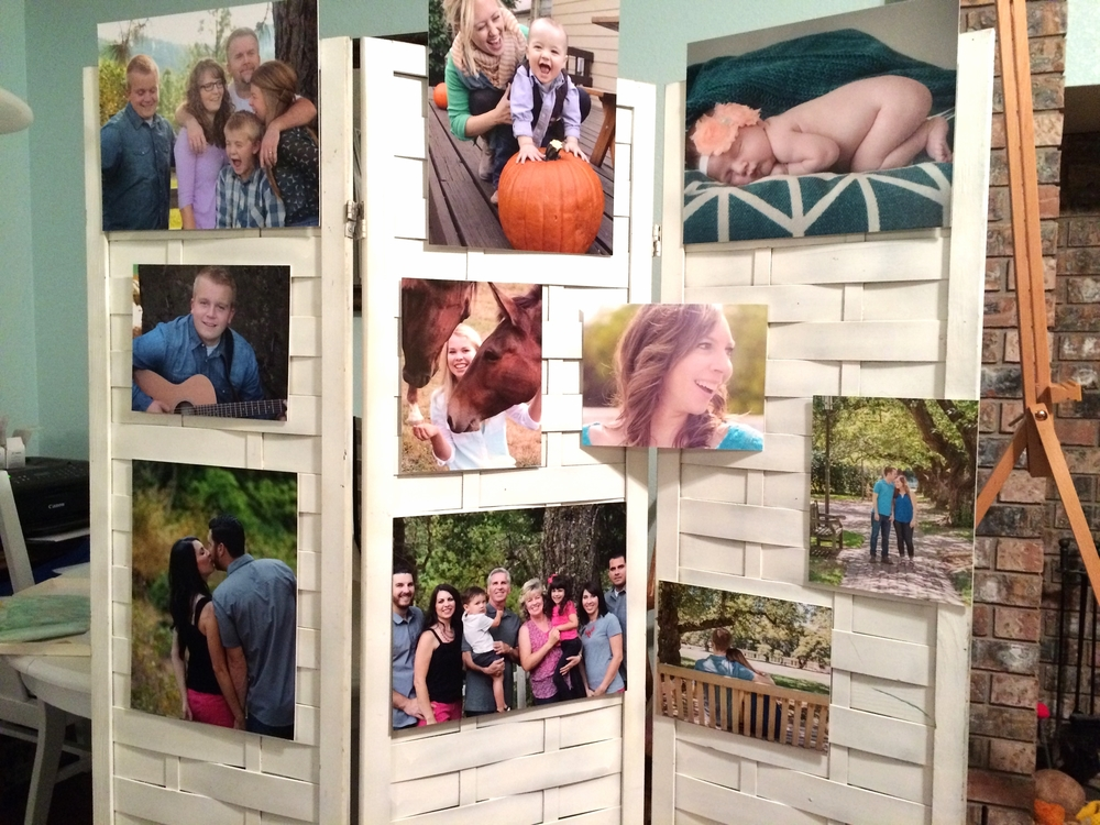 Photos are all matted with velcro on the back to hold in place. Super handy and easy!