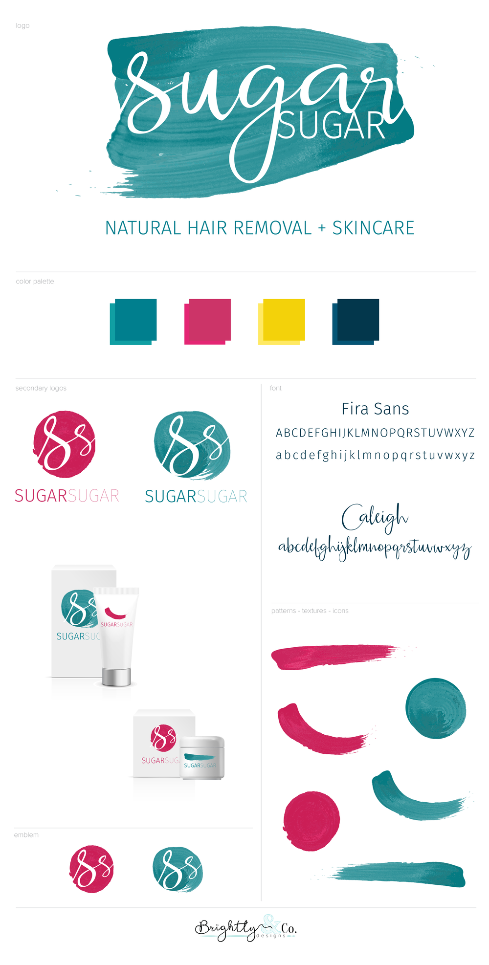 Brightly & Co. - Sugar Sugar PDX Brand Style Guide