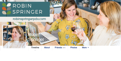 Robin Springer PDX Facebook Header by Brightly & Co. (All rights reserved).