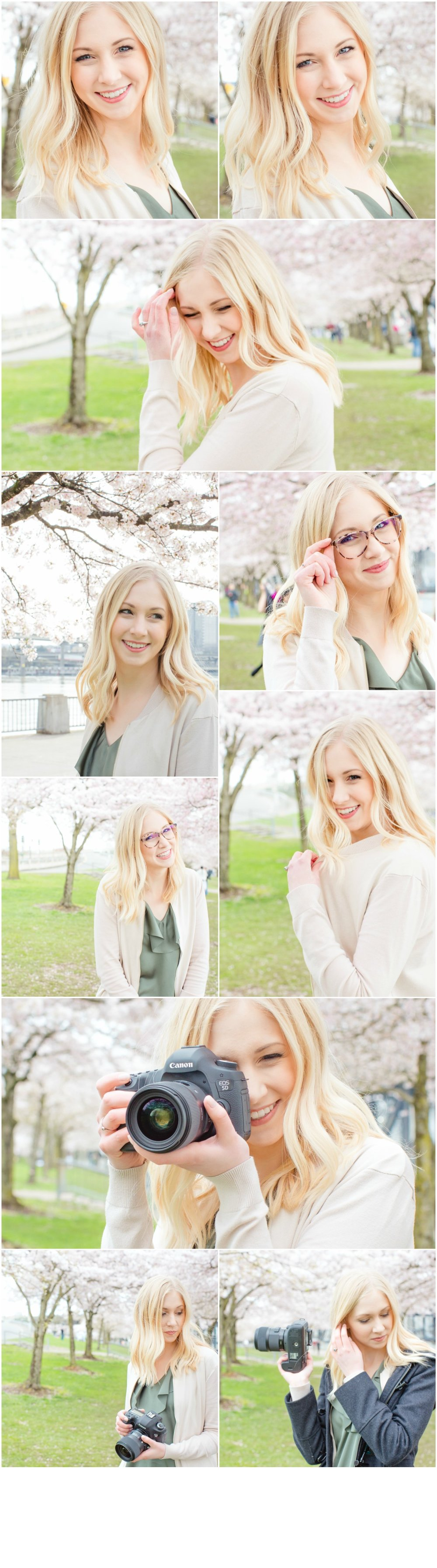 McKenna Olson Cherry Blossom Mini-Session with Photographer Brianne of Brightly & Co.