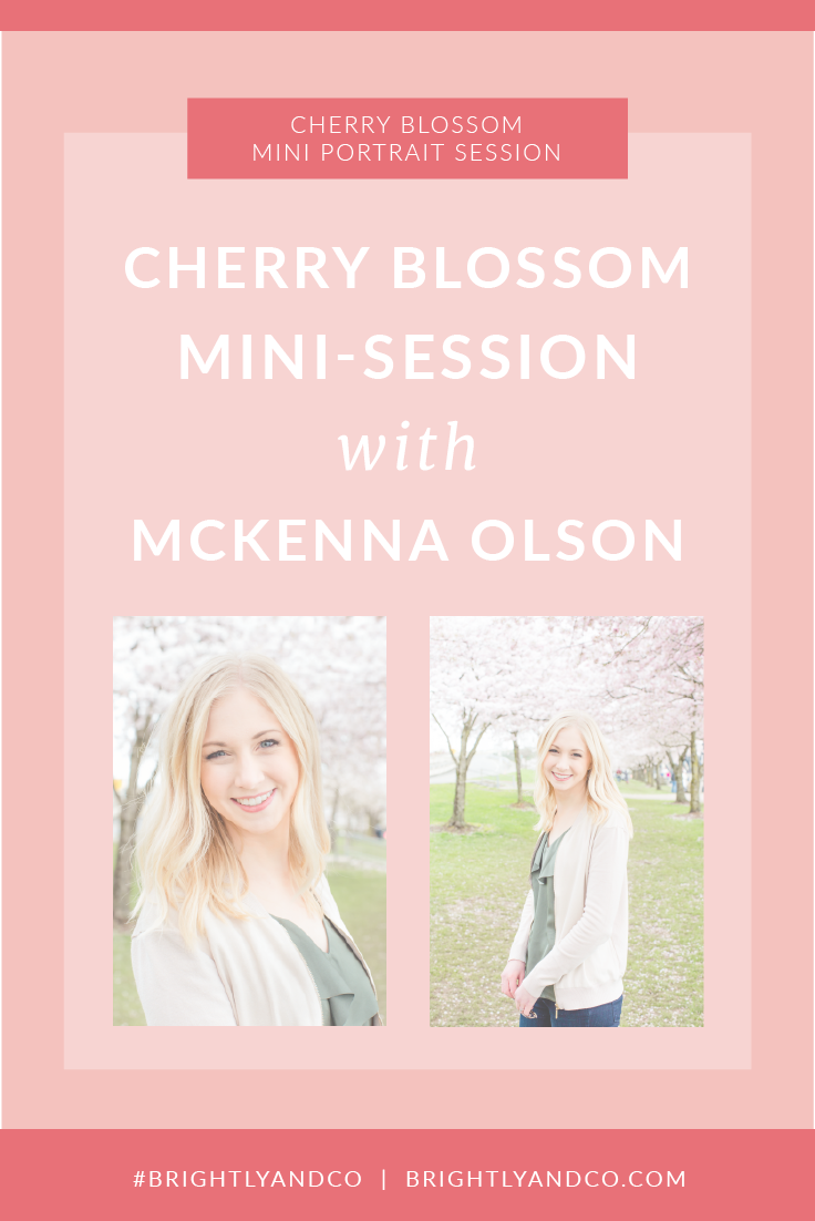 cherry blossom mini portrait session with Brightly & Co.