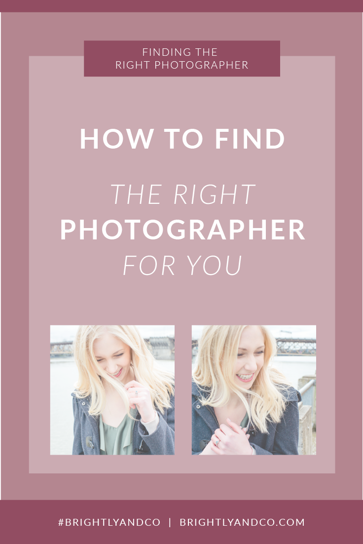 Finding the right photographer for you - Brightly & Co.