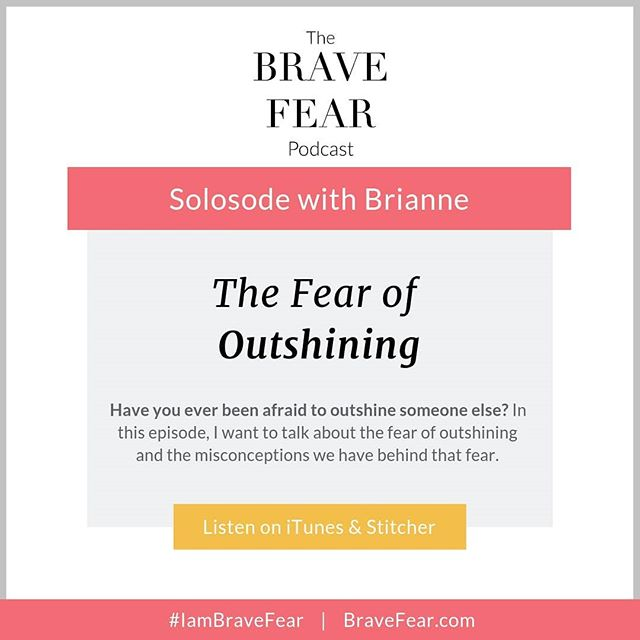 """**NEW EPISODE ALERT** ⠀⠀⠀⠀⠀⠀⠀⠀⠀ The Fear of Outshining. ⠀⠀⠀⠀⠀⠀⠀⠀⠀ This is a BIG one, for a lot of us... especially us #femaleentrepreneurs. If you've ever thought """"Who am I to do this?"""" or felt """"too big for your britches"""" this episode is for you. ⠀⠀⠀⠀⠀⠀⠀⠀⠀ We have a lot of misconceptions around standing out, outshining others and stepping into our bigness. This is something I'm currently learning and still figuring out every day, but I want to share with you what I've learned so far and encourage you to shine extra bright - always. ⠀⠀⠀⠀⠀⠀⠀⠀⠀ Click the link in my profile to listen, leave a review on iTunes and share this out with others to help spread the word and help others shine brightly too. ⠀⠀⠀⠀⠀⠀⠀⠀⠀ Thank you for listening. ❤️"""