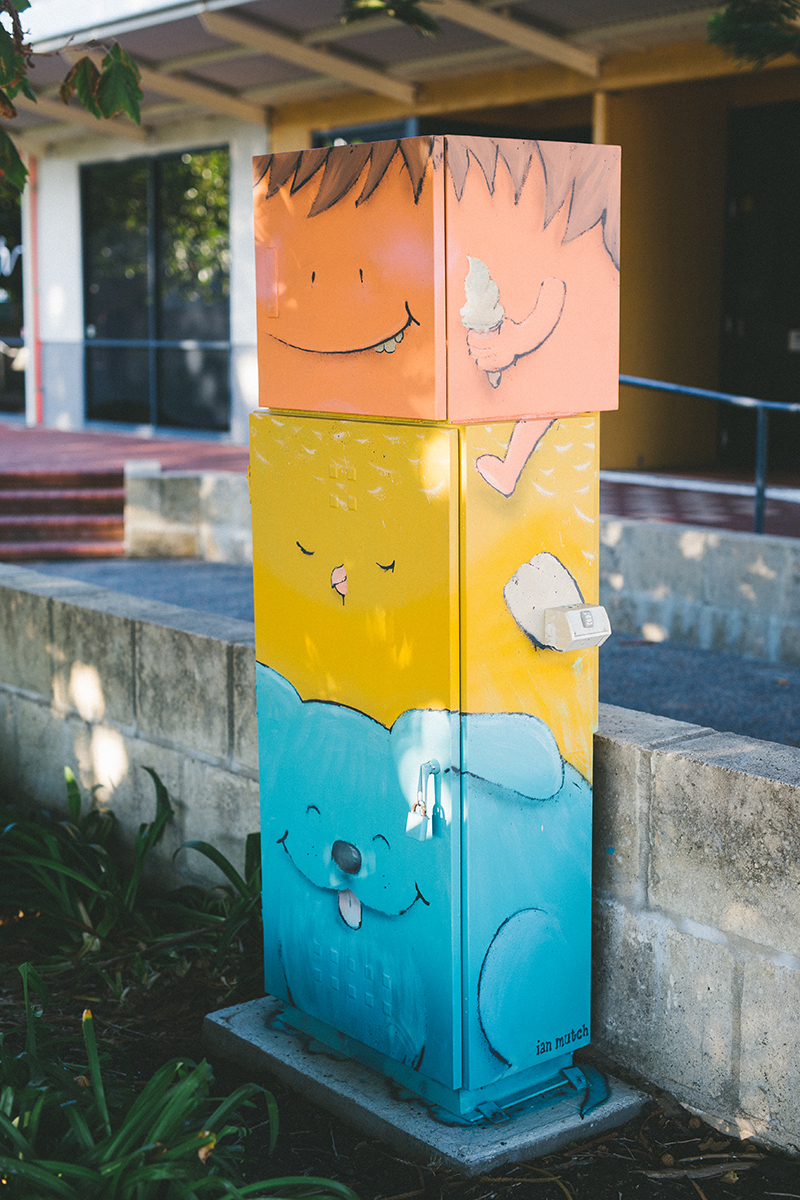 'Stacks On' (Guppy Park)  |  Artist : Ian Mutch  |  Inspired by Joel MacCafferty from Grace Christian Primary School.