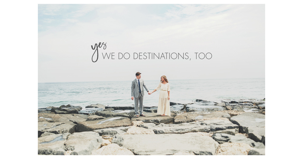 Oh yes, destination weddings are always welcome!