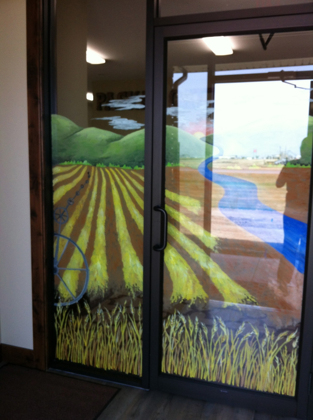 Agricultural Custom Window Painting