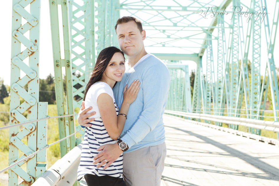 Couple on Fort Macleod Bridge