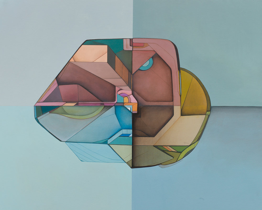 Transition Form 7930 - Acrylic on Panel 16in. x 20in. 2012