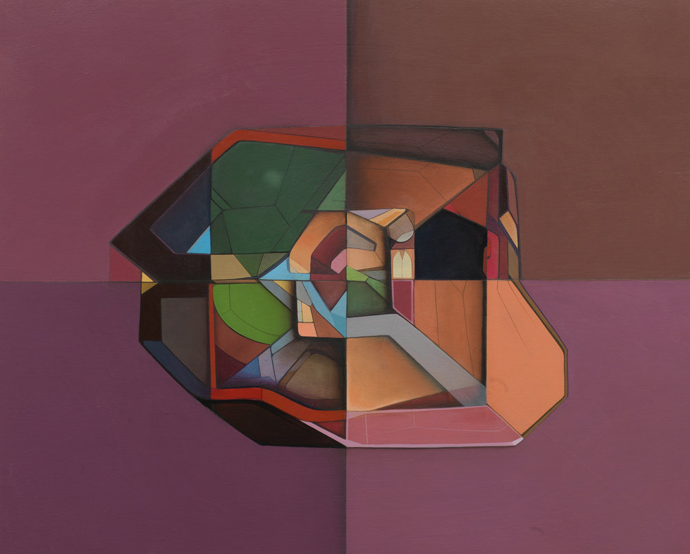 Transition Form 8597 - Acrylic on Panel 16in. x 20in. 2012